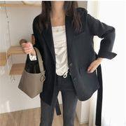 【超お買い得】韓国ファッションショートカシミアコート/女性用ベルトウールコート