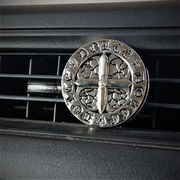 車用エアコンルーバー取り付け芳香剤 DOLCE CROSS プラチナシャワー