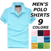 ポロシャツ メンズ 半袖 おしゃれ ブランド 無地 柄 黒 トップス シンプル 大きいサイズ