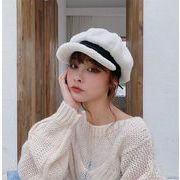 クオリティ保障/大ヒット 秋冬 子羊の毛 八角の帽子 暖かさ トレンド オシャレ ベレー帽 鳥打ち帽