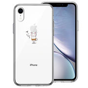 iPhoneXR 側面ソフト 背面ハード ハイブリッド クリア ケース 猫 ネコ 腹巻 Appleは重いなぁ