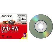ソニー ビデオカメラ用 8cmDVD-RW 両面 60分 3枚