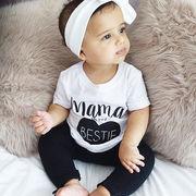 新生児 赤ちゃん★可愛い 人気上下2点セット★半袖Tシャツ パンツ カジュアル ベビー 出産お祝い