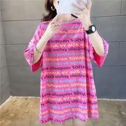 春夏新作 732190大きいサイズ 韓国 レディース ファッション    Tシャツ   LL-4L