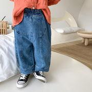 デニムパンツ 韓国子供服 キッズ ジュニア ボトムス ズボン ファッション 2020新作 セール m14598