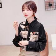 2020  韓国ファッション 長袖ブラウス【大きいサイズあり】