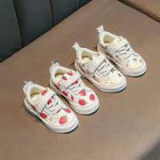 女児 白い靴 苺 パイナップル 靴 児童 アッパー低い スケートボード 春 新しいデザイ