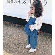 新作★春秋新品★子供服★女の子★キャミソール上着可愛い★ジーンズワイドパンツ★7-15