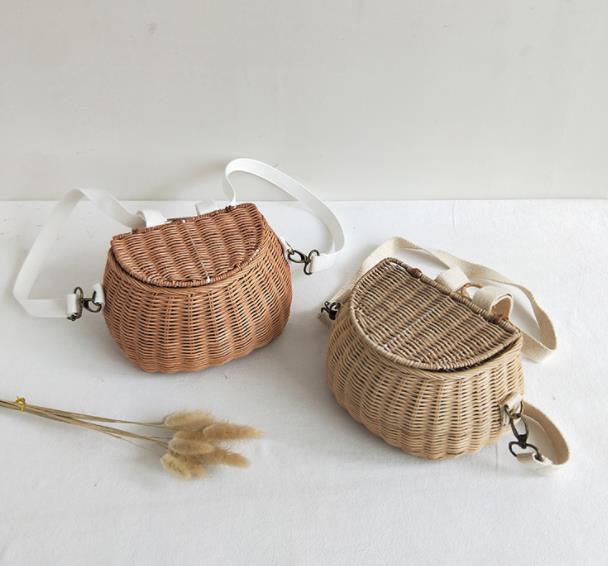 子供バッグ キッズ 編むバッグ かばん バッグ 手作り 農園風 ファッション雑貨