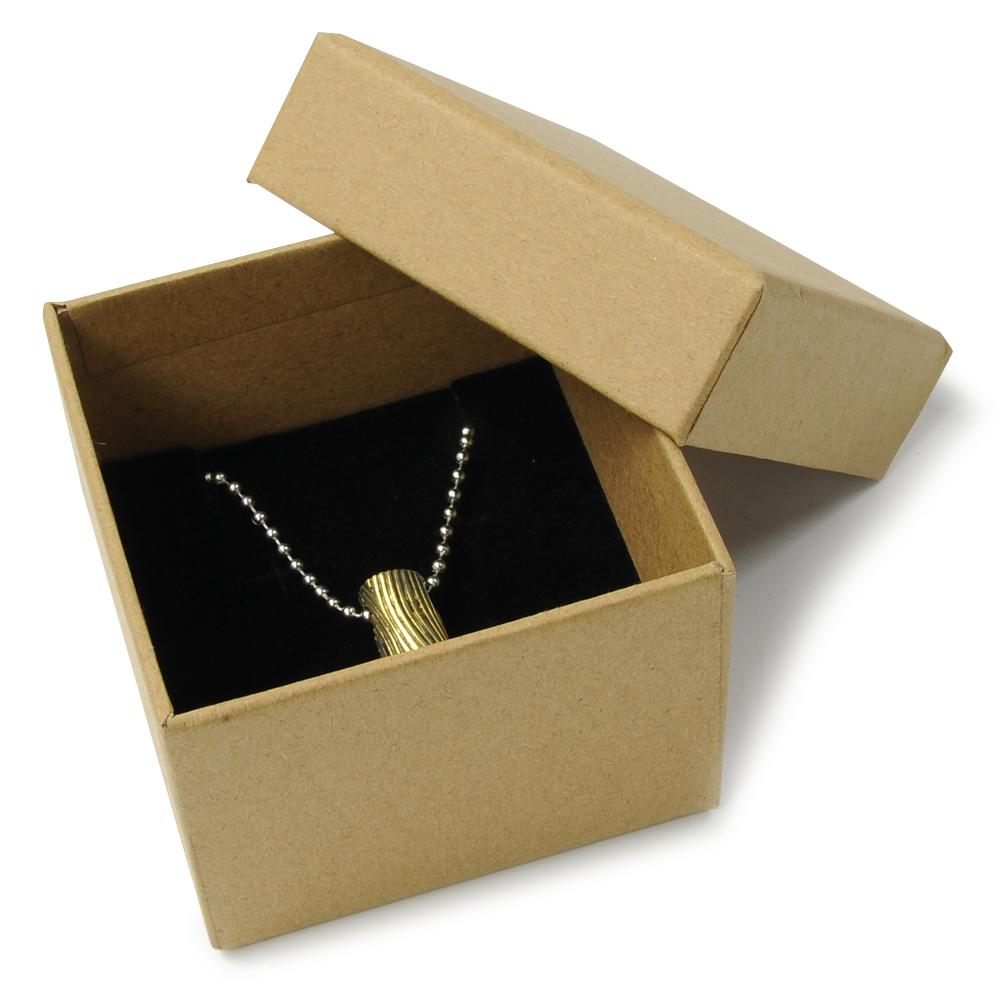 ギフトボックス 貼り箱 8×8×6cm 茶 アクセサリーケース
