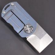 ドッグタグ型 折りたたみナイフ ライナーロック式