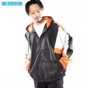 【2020春夏新作】 トラックジャケット メンズ 切り替え フード 蛍光色 ネオンカラー ナイロンジャケット