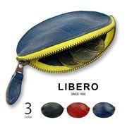 全3色 LIBERO リベロ 日本製 高級姫路レザー ラグビーボールデザイン ラウンドファスナー コインケース