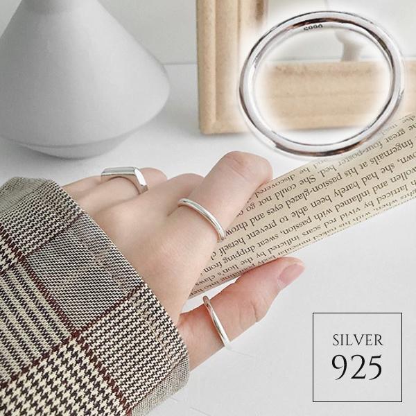 【即納】★2020春夏新作★1色 6サイズ シルバー925シンプルシルバーリング 指輪 [kgf0720]