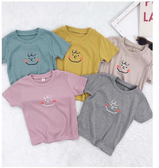 韓国ファッション 韓国子供服  2020春夏新作 子供服 tシャツ カジュアル系 80-120 5色