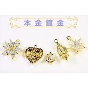 【本金鍍金--本当の金を使用した鍍金方法】ジルコン石×銅製台座 高品質ペンダント トレンドパーツ