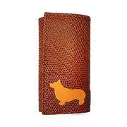 ◆本革6連キーケースとチャームのセット◆犬種カラーを選択可◆犬種全5色 コーギー