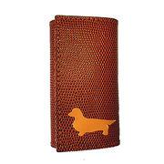 ◆本革6連キーケースとチャームのセット◆犬種カラーを選択可◆犬種全5色 ダックス