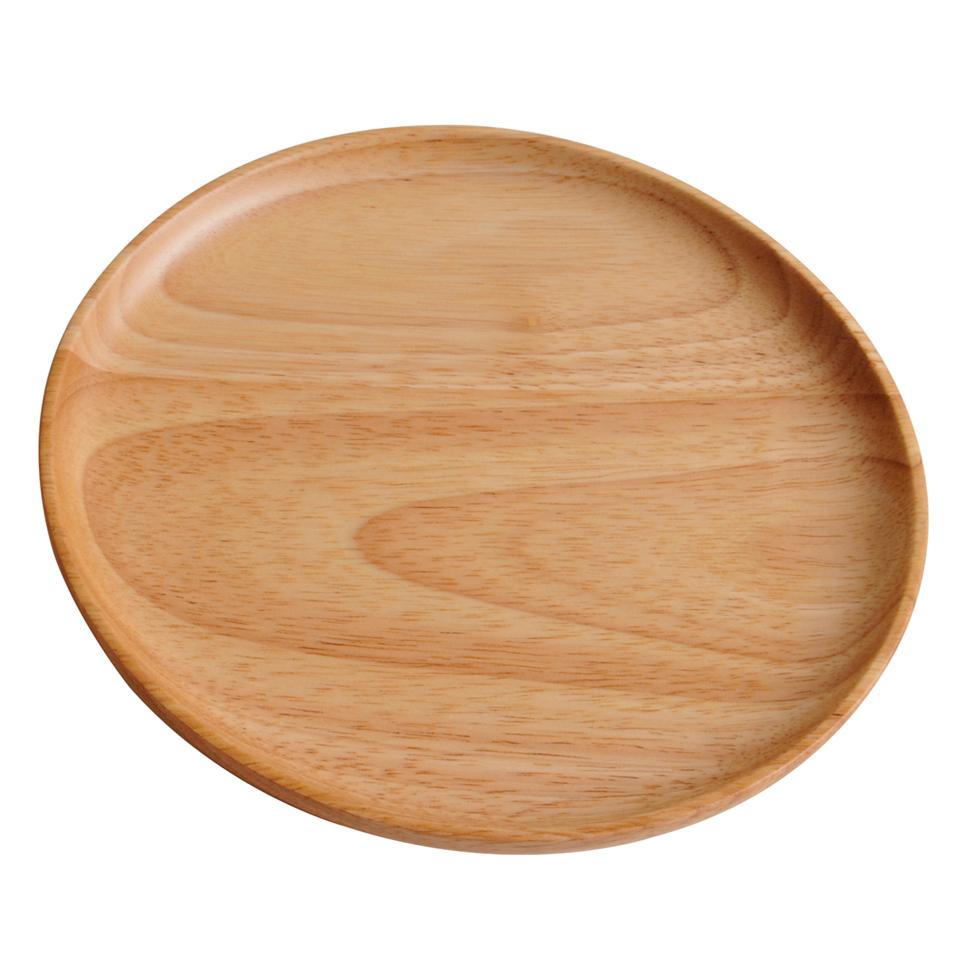 木製 ナチュラル ゴムの木 大 丸プレート