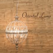 【吊照明】オリエンタルペンダントランプ[159WH(4灯)]<E26/水雷型>