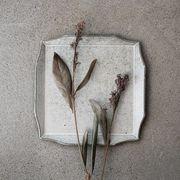 寿山窯 rim リム スクエア L(21cm) ホワイトアッシュ[美濃焼]