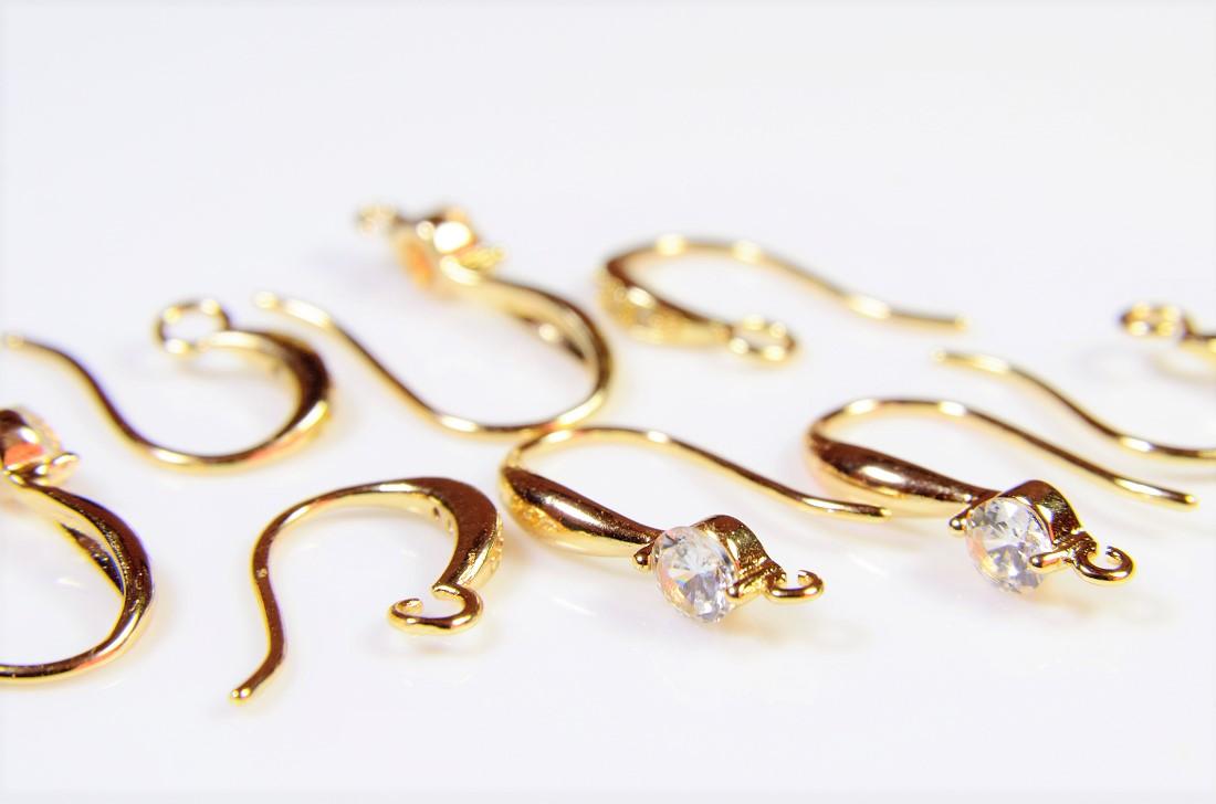 【銅製高品質イヤリング金具】イヤリング基礎金具・ピアス金具 手作りアクセサリー