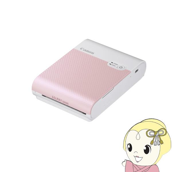 [予約 4月以降]キヤノン モバイルフォトプリンター Canon SHLPHY SQUARE QX10(ピンク) SELPHY QX10PK