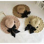 帽子 キャペリン 子供用 レディース用 親子 つば広 日よけ カンカン帽 麦わら帽子