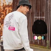 【2020春夏新作】ユニセックス デコレーション 長袖 クルーネック スウェット トレーナー プリント 刺繍