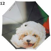 <全4柄>60cmジャンプ傘 全面フォトプリント 犬 イヌ