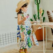ベスト ワンピース プリンセス 女の子 夏 韓国子供服 スカート 2020新作 SALE ファッション 動画あり