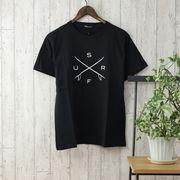 【2020春夏新作】 半袖Tシャツ メンズ クルーネック ロゴプリント 春 夏 カットソー サーフプリント