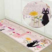 黒猫ジジのロングマット 『花のまち』 2020新作