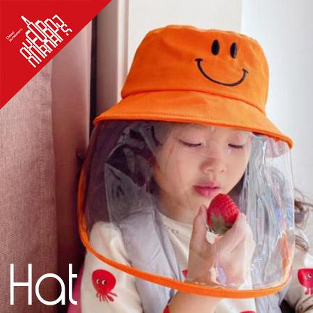 sflhw3241◆5000以上【送料無料】◆キッズ帽子★子供ハット ウイルス対策 透明マスク 飛沫感染を防ぐ