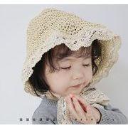 帽子 キャップ ハット キッズ 夏 可愛い 日焼け止め フラワー 折り畳み 紐付き