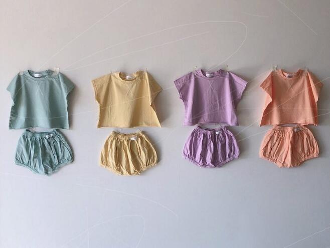 キッズファッション★上下セット Tシャツ+パンツ★66-90
