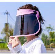 帽子 ファッション 日焼け止め フェイスシールド 透明シールド 防水 飛沫防止