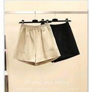 【大きいサイズL-4XL】ファッション半ズボン♪ブラック/アンズ2色展開◆