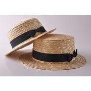 帽子 キャペリン 子供用  つば広 日よけ カンカン帽 麦わら帽子