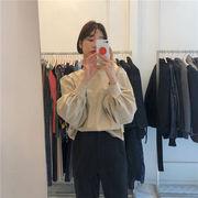 2019 秋季 新品 デザインセンス 韓国ファッション 気質 長袖 レトロ 百掛け 簡約 シャツ トップス