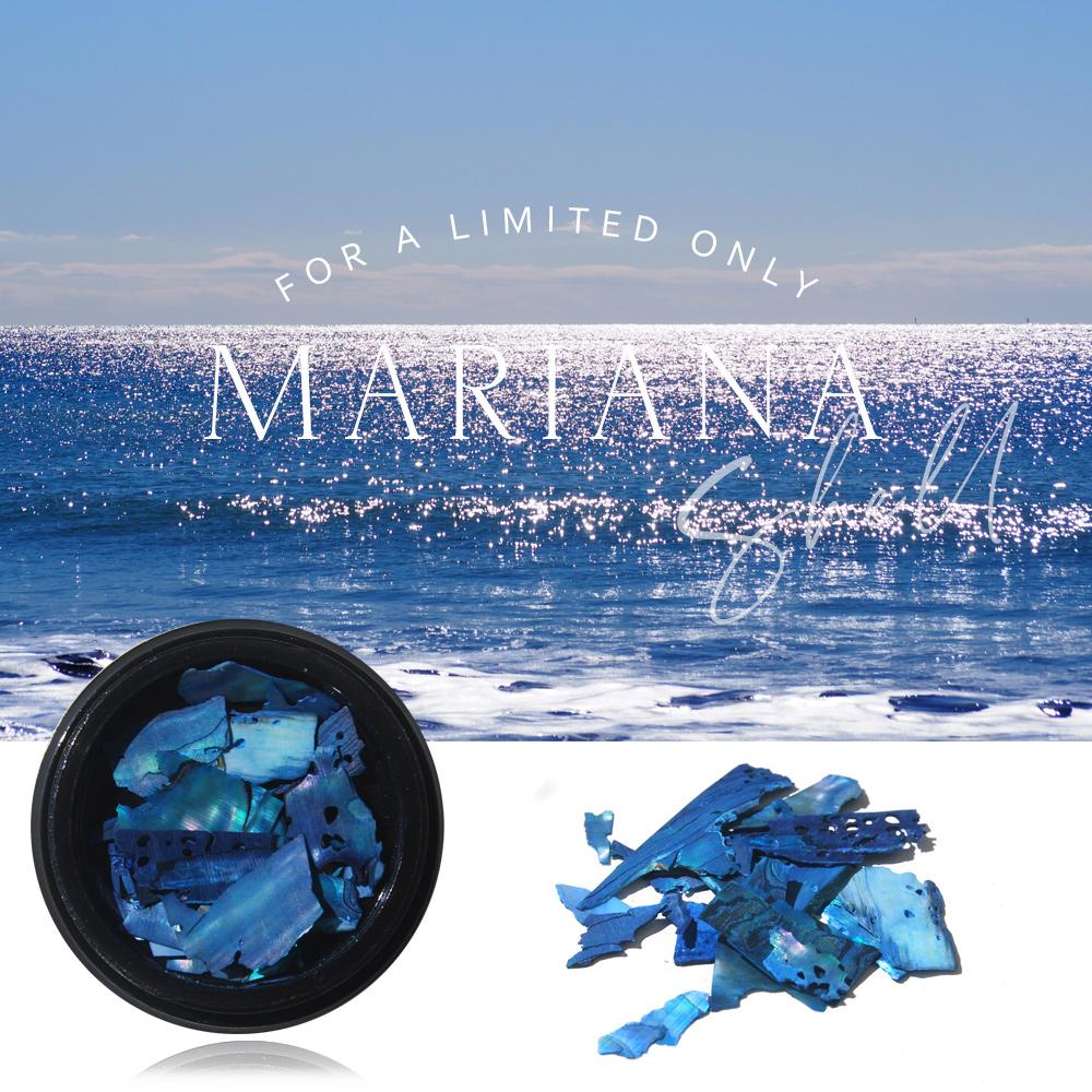 数量限定【海をイメージした美しいマリアナシェル】ブルー ネイル ハンドメイド レジン