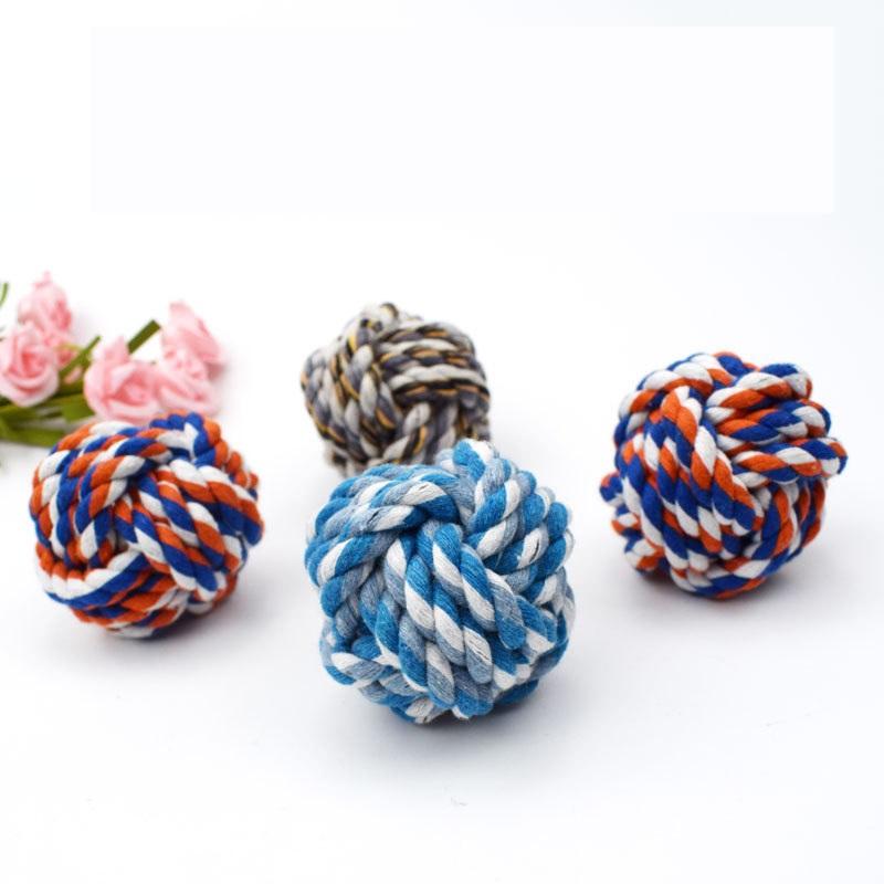 ペット用品 おもちゃ 遊び道具 運動 ストレス発散 ロープ 犬 ボール