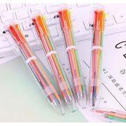 ♪新入学祝い♪デザイン文具♪多色のペン♪可愛いデザイン♪ボールペン 書き色6色