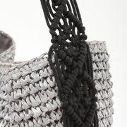 New【2020新作】マクラメ編みショルダーカゴバッグ