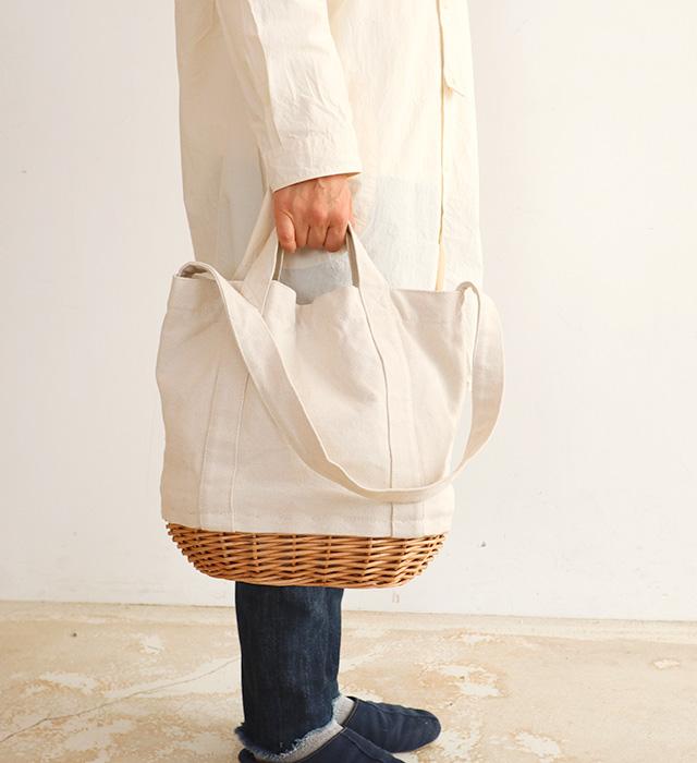 【KAGOBAG】【CARMELINA(カルメリーナ)】柳キャンバスバッグ Lサイズ 3色