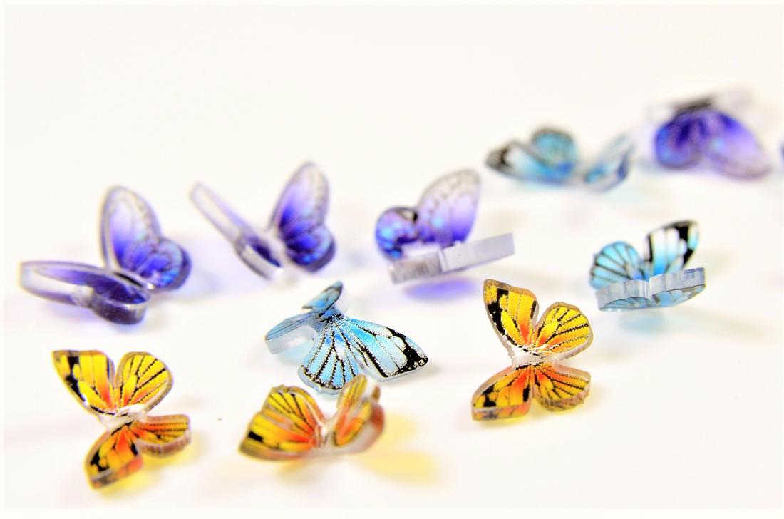 【アソートペアセット】蝶々デコパーツ蝶々モチーフ 夏アクセサリートレンドパーツ