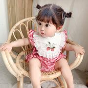 赤ちゃん ワンピース チェック 連体衣 可愛い 涼しい キッズ 韓国子供服 ファッション 2020新作 SALE