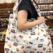 エコバック  エコバッグ 大きめ eco bag 03 お買いものバッグ フラワー ツリー 扇子 寿司