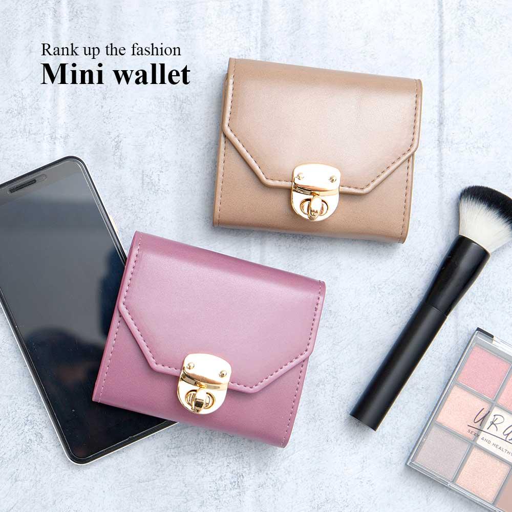 シンプル 三つ折り財布 コイン ミニ財布 [グロス] / レディース 小銭入れ