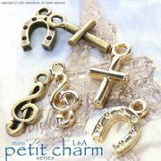 ★L&A original charm★petit charm★♪クロス♪音符♪馬蹄♪★K16GP&本ロジウム★